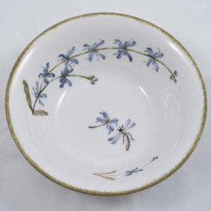 Cereal Bowl Hand Painted Blue Flower