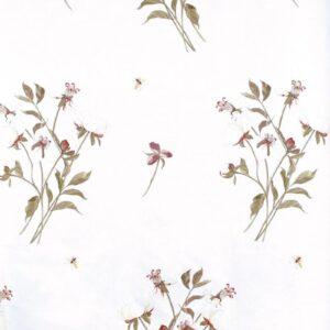 Boldwood Peony Flower on Linen Union