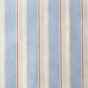Blue Wide Stripe with Coral
