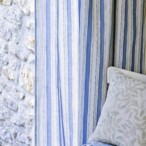 Vintage Blue Stripe Fabric