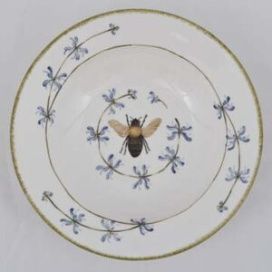 Soup Bowl 9 inch Blue Saliva and Bee