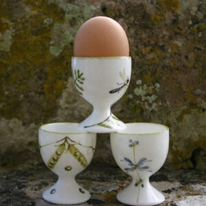 Hand painted fine china egg cups by Holly Lasseter